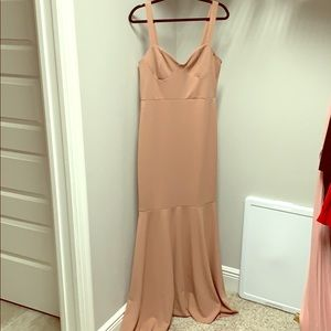 Blush Sweetheart mermaid dress